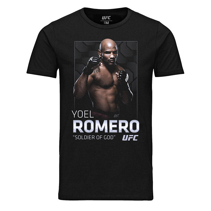 "Men's UFC Yoel ""Soldier of God"" Romero Photo T-Shirt - Black"
