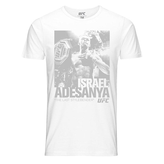 "Men's UFC  Israel ""The Last Stylebender"" Adesanya ICON Graphic T-Shirt - White"