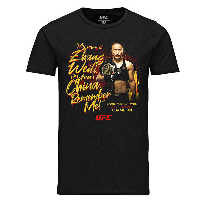 "Men's UFC Weili ""Magnum"" Zhang Quote T-Shirt - Black"