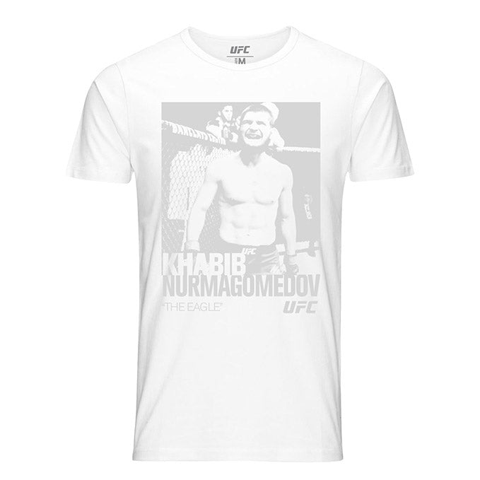 "Men's UFC Khabib ""The Eagle"" Nurmagomedov ICON T-Shirt - White"