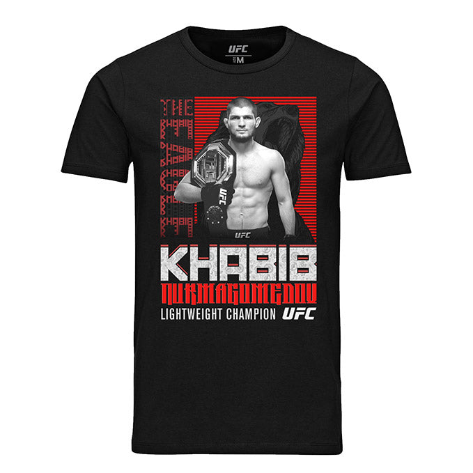 "Men's UFC Khabib ""The Eagle"" Nurmagomedov Russian Bear T-Shirt - Black"