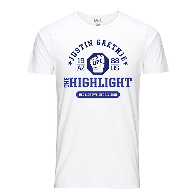 "Men's UFC Justin ""The Highlight"" Gaethje Octagon Fist T-Shirt - White"