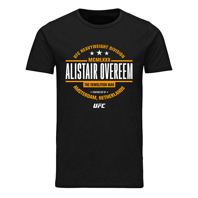 "Men's UFC Alistair ""The Demolition Man"" Overeem Old School T-Shirt - Black"
