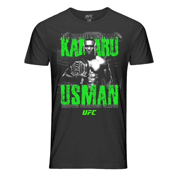 "Men's UFC Kamaru ""The Nigerian"" Usman ICON Graphic T-Shirt - Black"