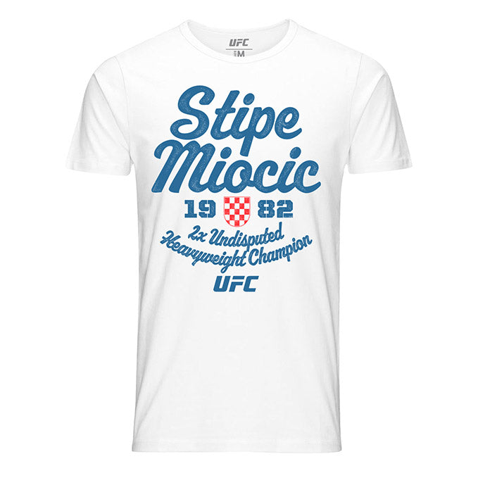 Men's UFC Stipe Miocic 1982 Champ T-Shirt - White