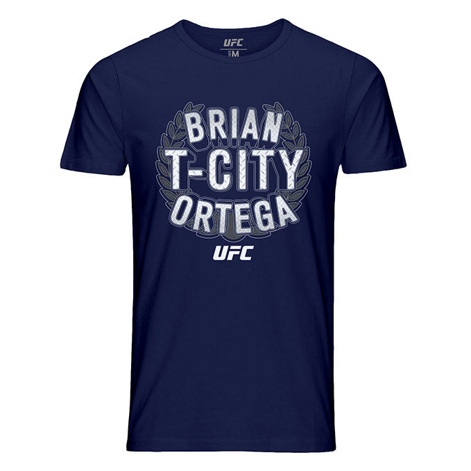 "Men's UFC Brian ""T-City"" Ortega Crest T-Shirt - Navy"