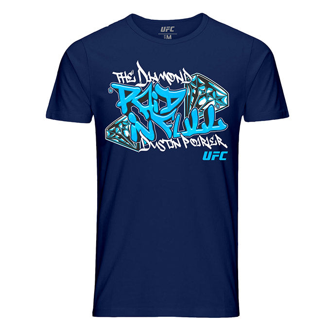 "Men's Dustin ""The Diamond"" Poirier Paid in Full T-Shirt-Navy"