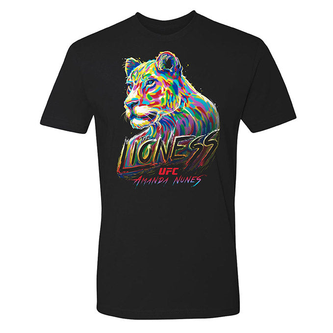 "Men's UFC Amanda ""The Lioness"" Nunes Lion T-Shirt - Black"