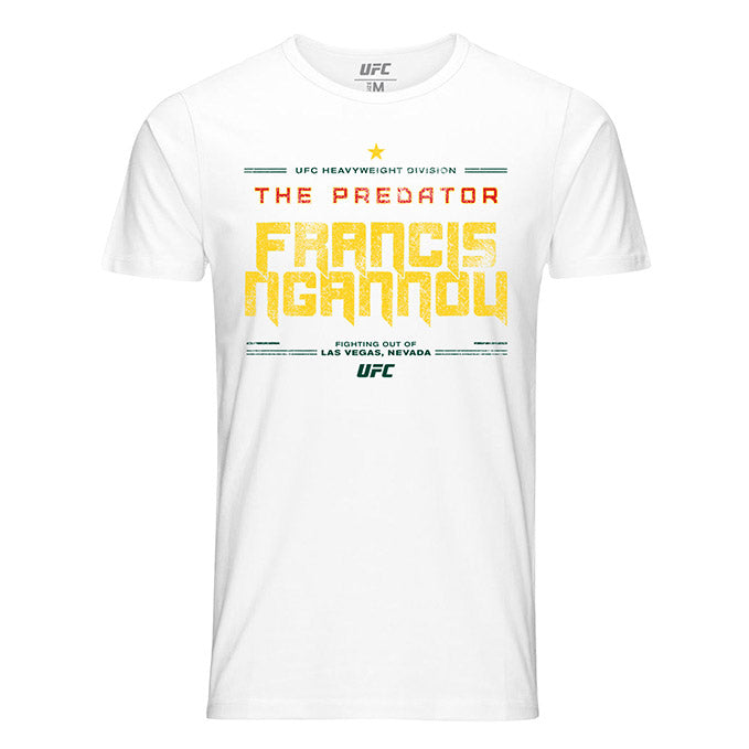 "Men's UFC Francis ""The Predator"" Ngannou Quote T-Shirt - White"
