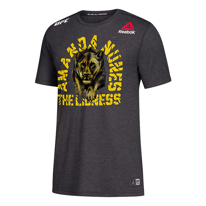 Men's Reebok Amanda Nunes Black Authentic UFC 245 Legacy Series Walkout Jersey