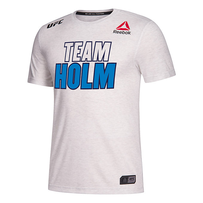 Men's Reebok Holly Holm Chalk UFC 239 Legacy Series Walkout Jersey