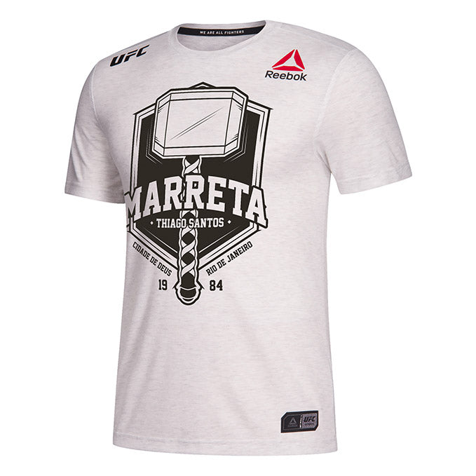 Men's Reebok Thiago Santos Black Authentic UFC 239 Legacy Series Walkout Jersey
