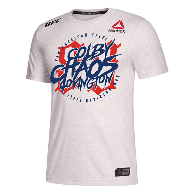 Men's Reebok Colby Covington Chalk Authentic UFC 245 Legacy Series Walkout Jersey
