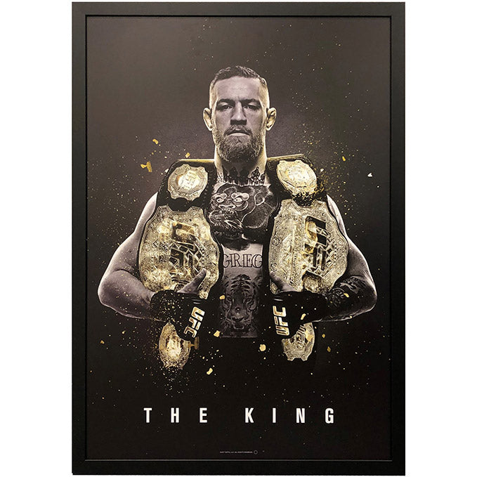 "UFC Conor McGregor ""The King"" Poster - Framed"