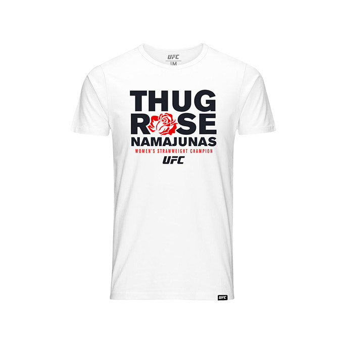 "UFC Kid's Rose ""Thug"" Namajunas Graphic T-Shirt - White"