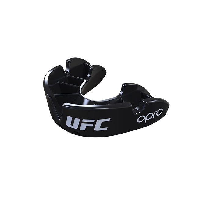Kid's OPRO Black UFC Bronze Mouth Guard