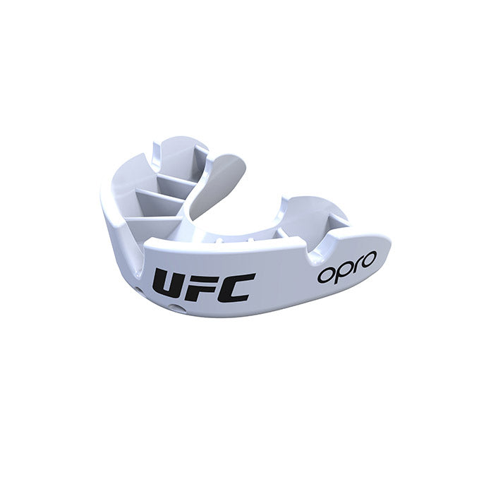 Kid's OPRO White UFC Bronze Mouth Guard