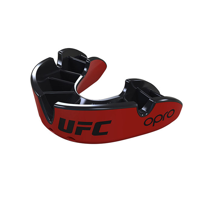 OPRO Red/Black UFC Silver Mouth Guard