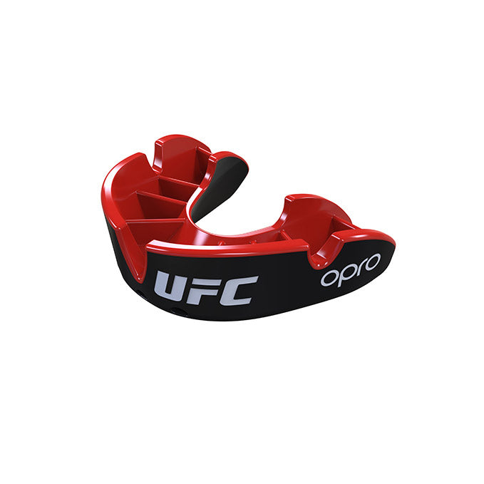 Kid's OPRO Black/Red UFC Silver Mouth Guard