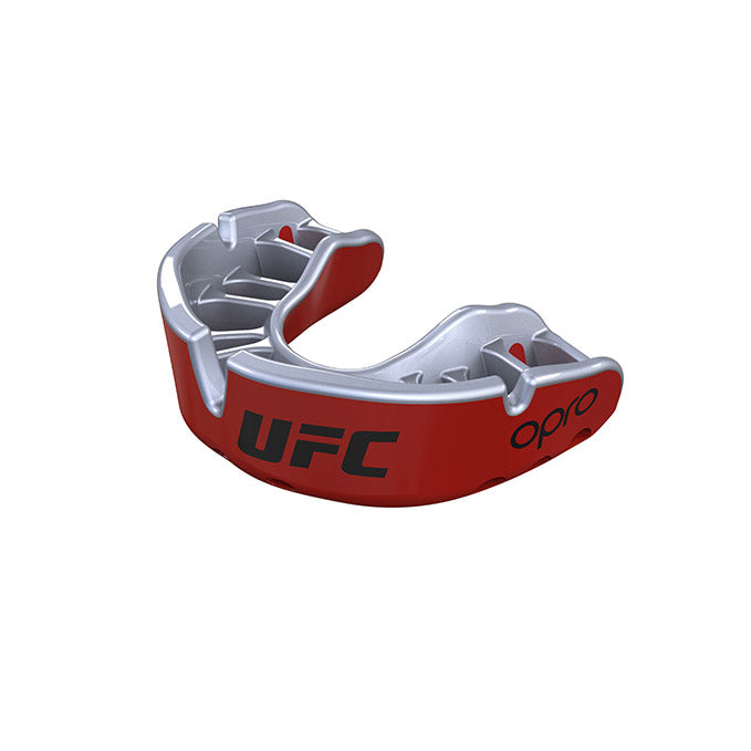 Kid's OPRO Red/Silver UFC Gold Mouth Guard
