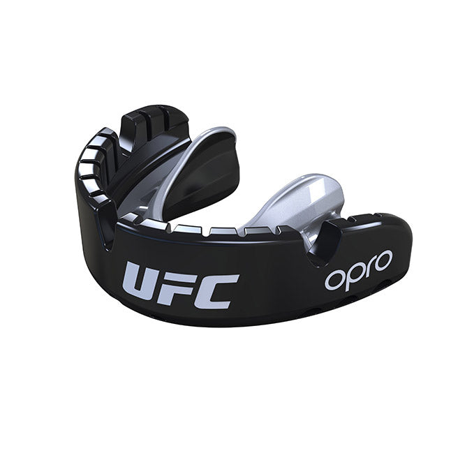 OPRO Black/Silver UFC Gold Braced Mouth Guard