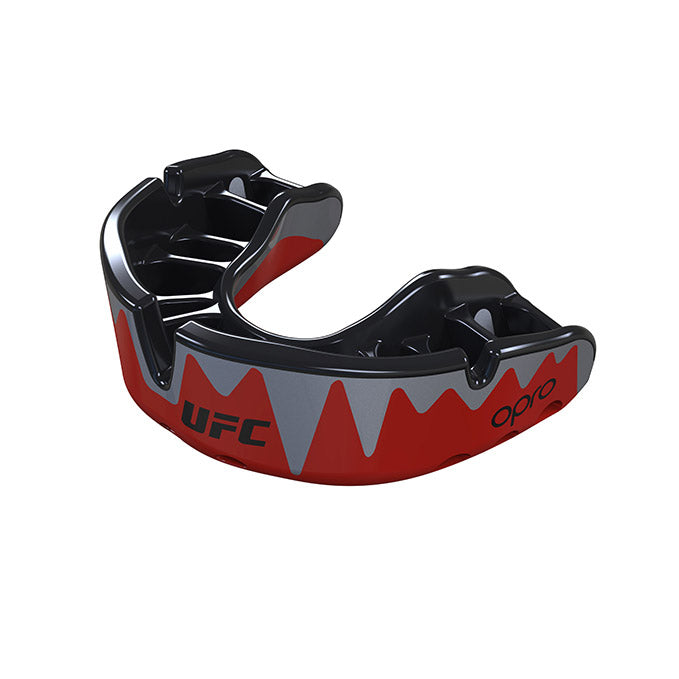 OPRO  Red/Black/Silver UFC Platinum Fangz Mouth Guard