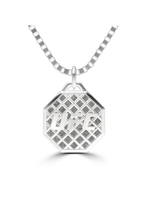 UFC Octagon Pendant in Sterling Silver