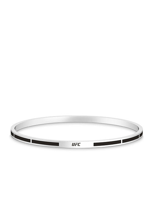 UFC Elements Black Enamel Bangle in Sterling Silver
