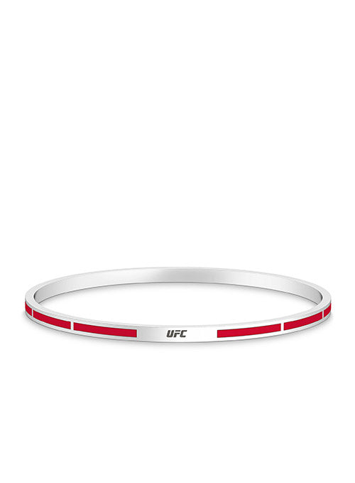 UFC Elements Red Enamel Bangle in Sterling Silver