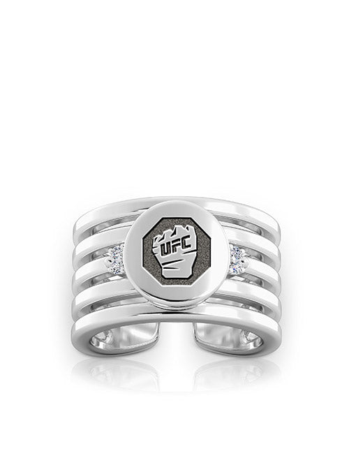 UFC Classics Diamond Cuff Ring in Sterling Silver