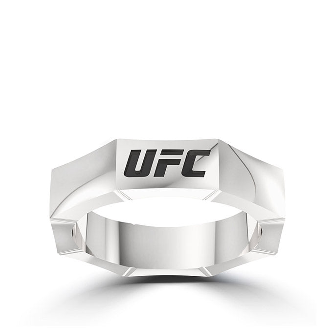 UFC 25th Anniversary Limited Edition Octagon Ring in Sterling Silver