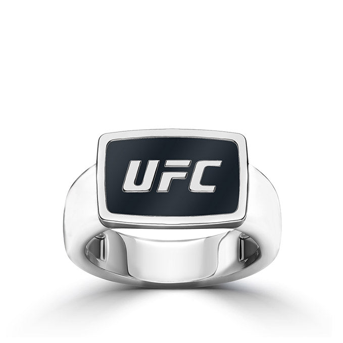 UFC Classics Enamel Ring in Sterling Silver