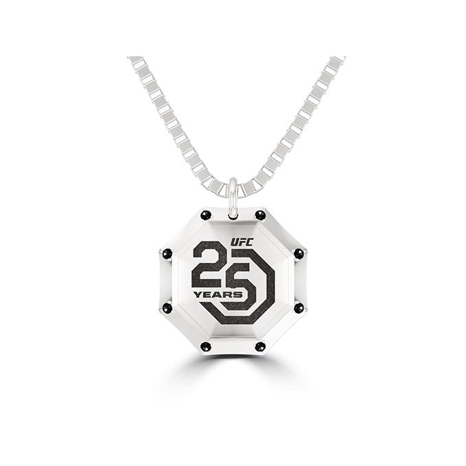 UFC 25th Anniversary Limited Edition Diamond Pendant in Sterling Silver