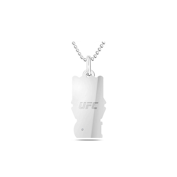 UFC Boxing Glove Pendant in Sterling Silver