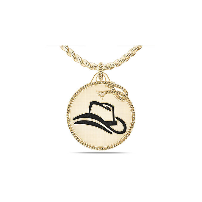 UFC Donald Cerrone Large Pendant in 14K Yellow Gold