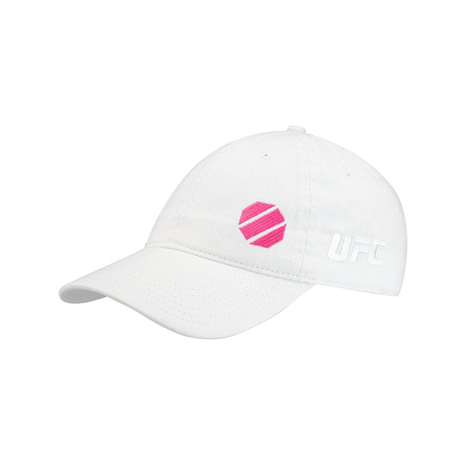 UFC Reebok Women's Micro Split Octagon White Adjustable Cap