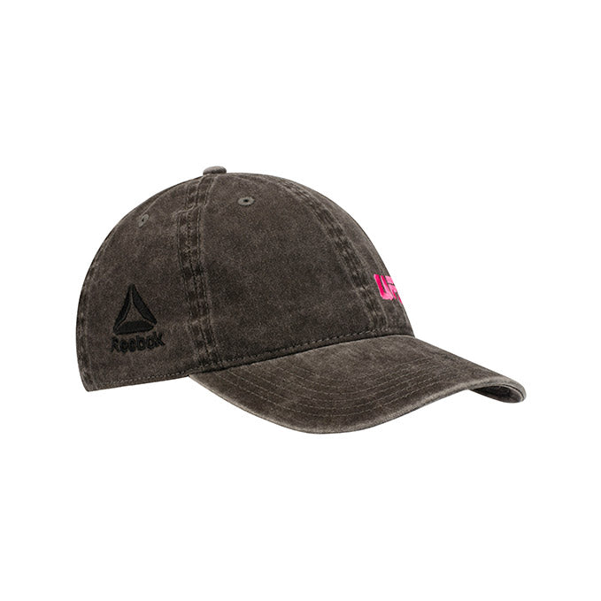 UFC Reebok Women's Mini Performance Logo Black Adjustable Cap