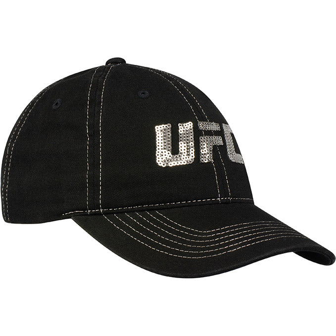 Women's UFC Sequin Adjustable Cap - Black