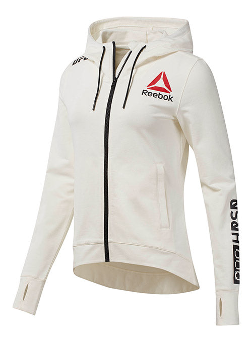 Women's Reebok Chalk UFC Fight Night Walkout Hoodie Replica