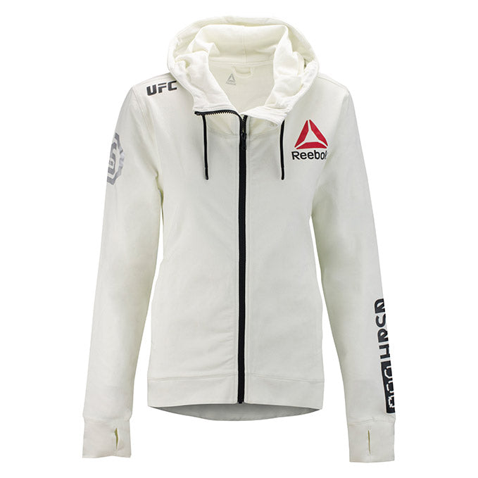 Women's Reebok Chalk UFC Fight Night 25th Anniversary Walkout Hoodie Replica