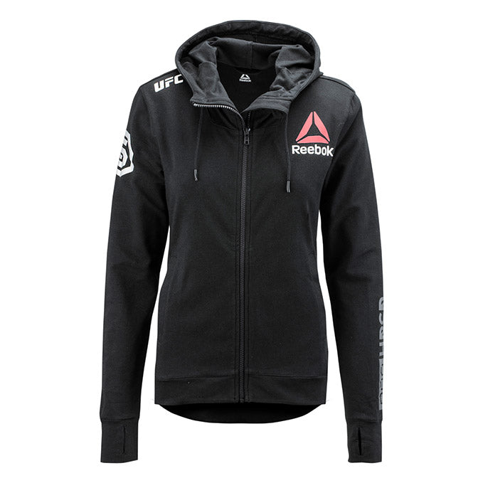 Women's Reebok Black Authentic UFC Fight Night 25th Anniversary Walkout Hoodie Replica