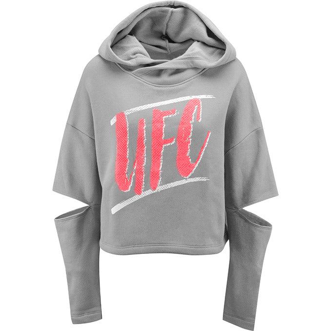 Women's Storm UFC Cut-Sleeve Pullover Hooded Fleece