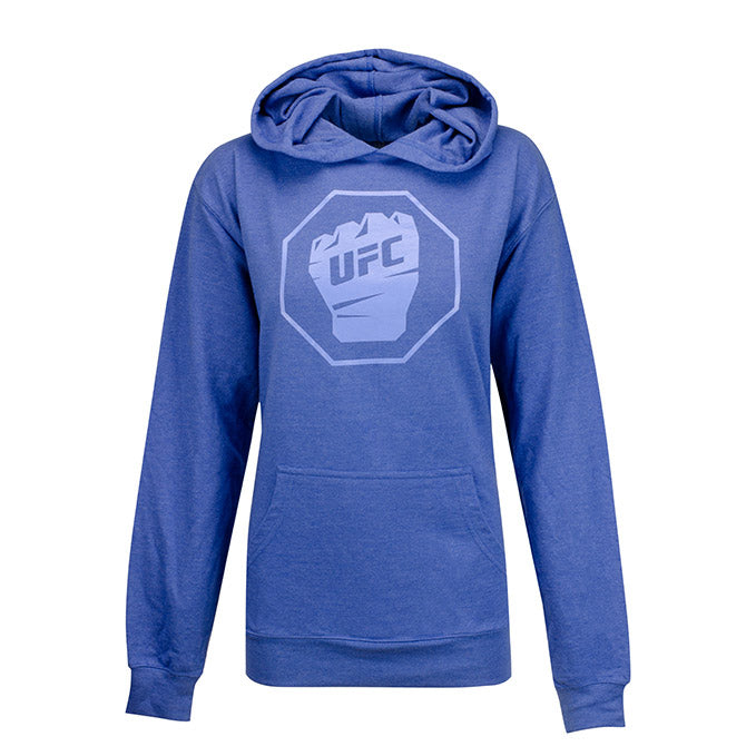 UFC Women's French Terry Hooded Pullover- Blue