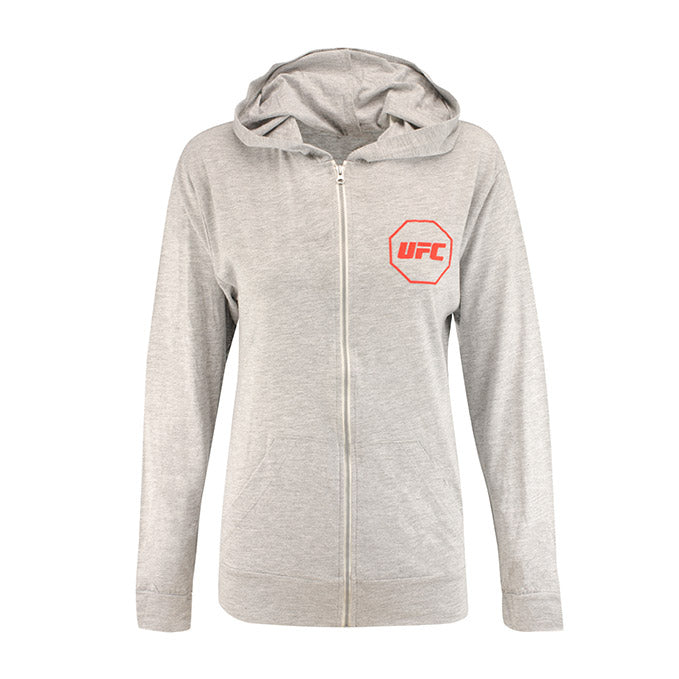UFC Women's Full-Zip Hooded Jacket - Grey