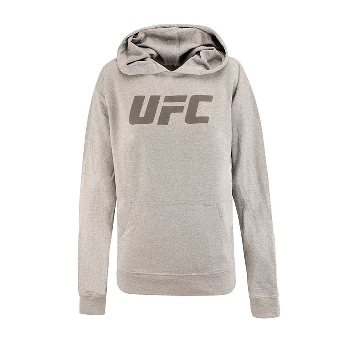 UFC Women's French Terry Hooded Pullover - Grey