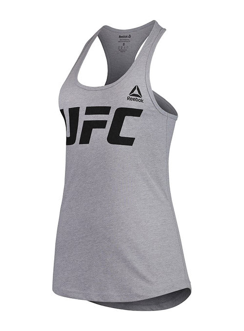 Women's Reebok Grey UFC Essential Tank Top