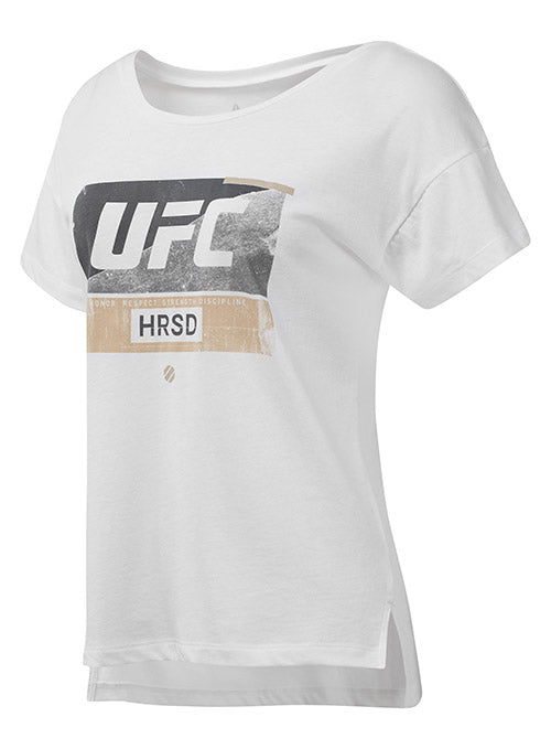 Women's Reebok White UFC FG Fight Week T-Shirt