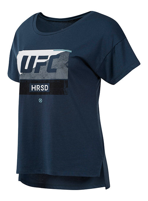 Women's Reebok Navy UFC FG Fight Week T-Shirt