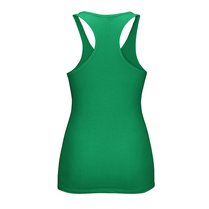 Women's UFC Reebok Green Essential Tri-Blend Racer Back Tank Top