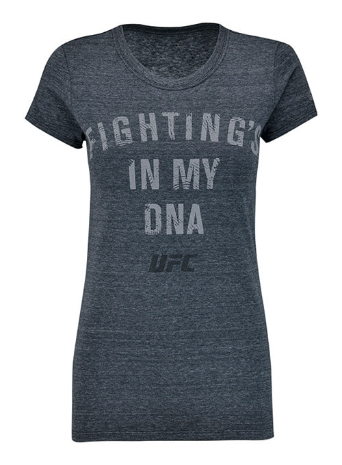Women's Reebok Charcoal UFC Fighting's In My DNA T-Shirt